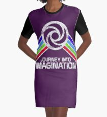 Reise in die Phantasie Distressed Logo im Vintage-Retro-Stil T-Shirt Kleid