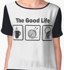 Funny Knitting T Shirt Women's Chiffon Top