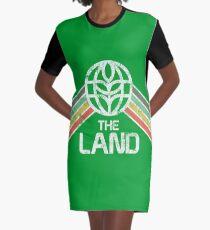 Das Land Logo Distressed im Vintage-Retro-Stil T-Shirt Kleid