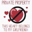 Heart Belongs To Girlfriend by FamilyT-Shirts