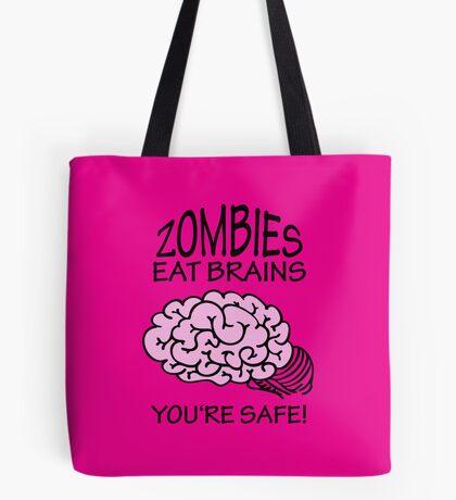 Zombies eat Brains VRS2 Tote Bag