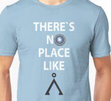 There`s no place like Earth(Tau'ri) White text - Stargate Unisex T-Shirt