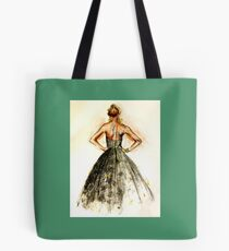 Fashion - Sequined Evening Gown Tote Bag