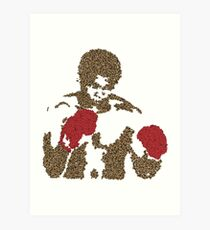 Muhammad Ali Inspired Art Made of Butterflies and Bees Art Print