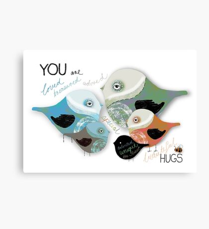 You are Loved Affirmation Canvas Print