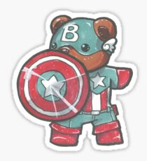 Captain A-bear-ica Sticker