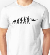Funny Skydiving Evolution Of Man T-Shirt