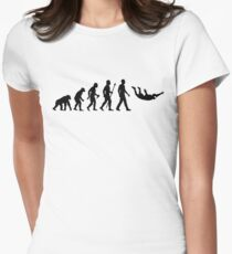 Funny Skydiving Evolution Of Man Women's Fitted T-Shirt