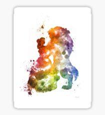 Splatter paint Beauty and the Beast Sticker