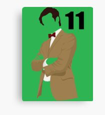 The 11th Doctor Canvas Print
