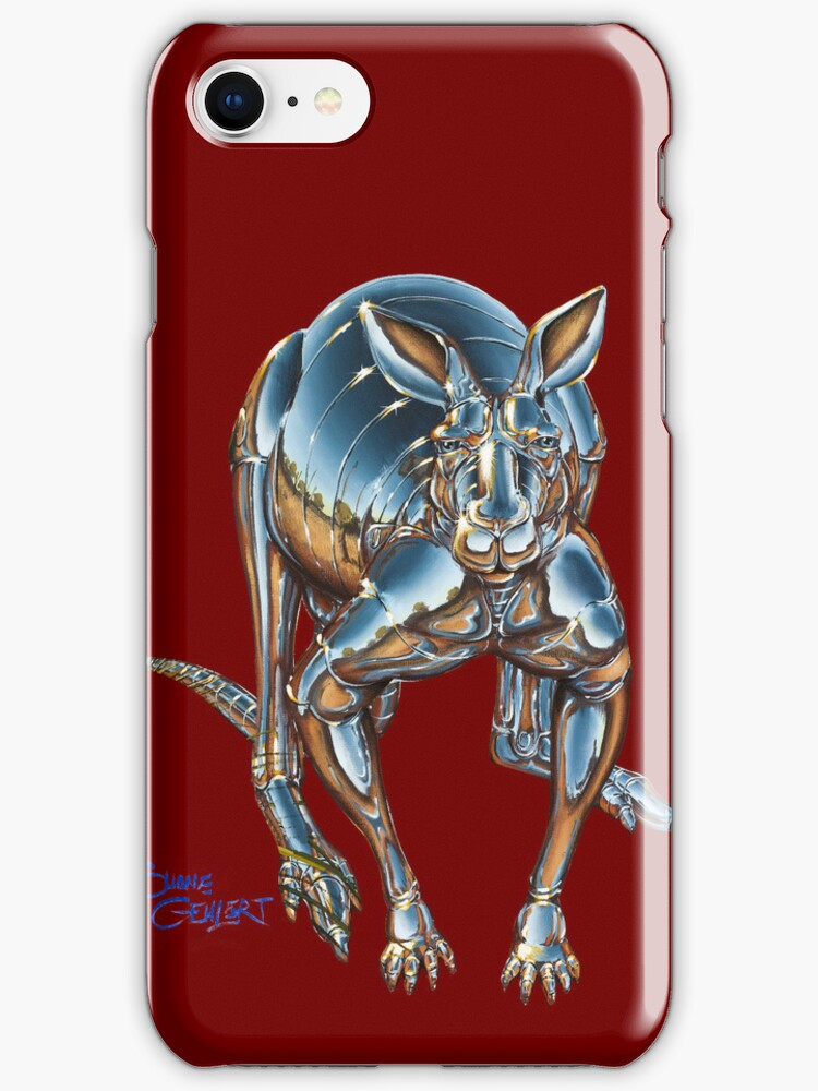 Roboroo! phone case - Red by Shane  Gehlert
