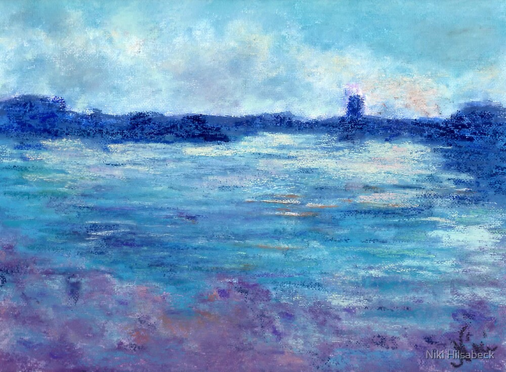 Cool Water (pastel) by Niki Hilsabeck