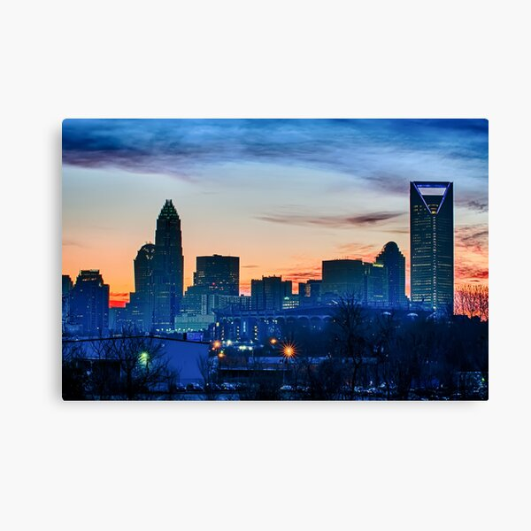 charlotte skyline Canvas Print