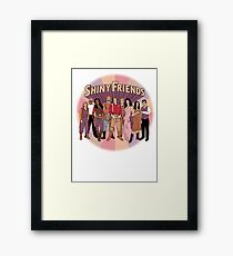 Shiny Friends Framed Print