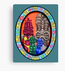 Tiki Family Portrait Canvas Print