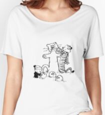calvin and hobbes b N w Women's Relaxed Fit T-Shirt