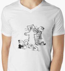 calvin and hobbes b N w Mens V-Neck T-Shirt