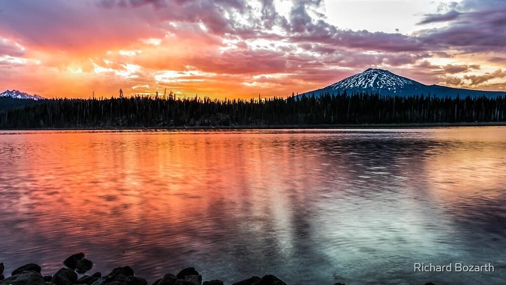 Elk Lake Sunrise 4 by Richard Bozarth