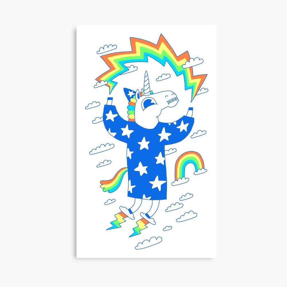 Unicorn Wizard Canvas Print