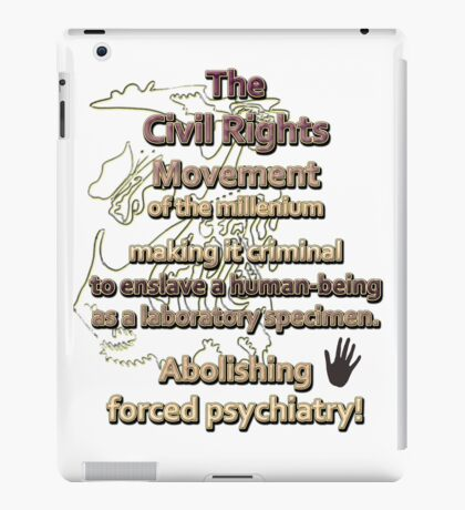 The Civil Rights Movement of the millenium iPad Case/Skin