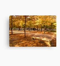 Impressions of Paris - Tuileries Garden, Come Sit a Spell Canvas Print