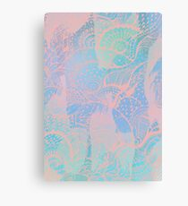 Abstract pastels color pattern Canvas Print