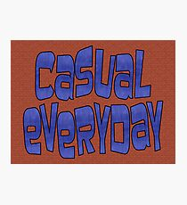 casual everyday Photographic Print