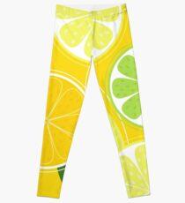 Yellow Citrus: Citrus fruit background vector Leggings