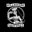 Hula Hooping Saves Lives! Throw Pillow! by Dominique O'Leary