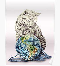Our feline deity shows restraint Poster