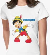Pinocchio Cartoon Movie Funny Women's Fitted T-Shirt