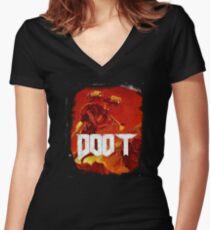 Doom, Doot Women's Fitted V-Neck T-Shirt