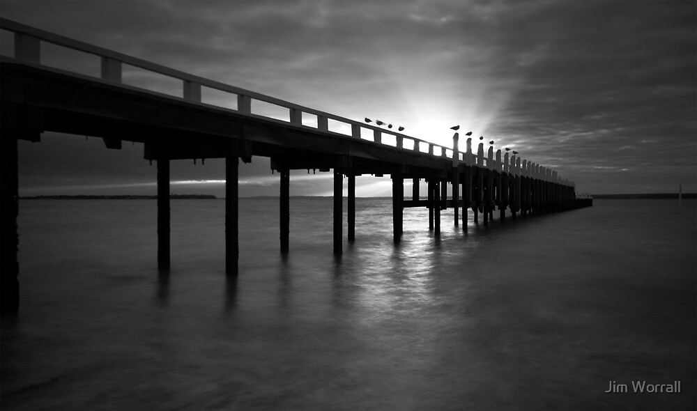 Grantville Jetty Sunset by Jim Worrall