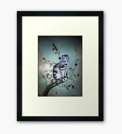 The Blue Cat Framed Print