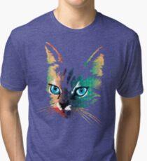 POP ART CAT Tri-blend T-Shirt