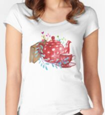 Tea  Fitted Scoop T-Shirt
