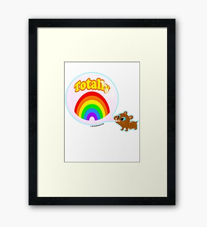 Bubble Gum Bandit! Framed Print