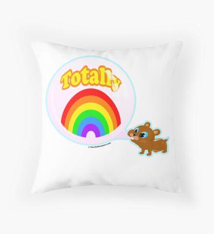 Bubble Gum Bandit! Throw Pillow