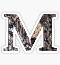 Camo M Sticker