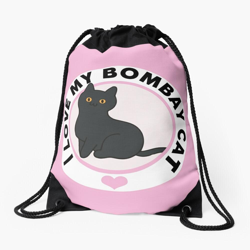 Bombay Cat Lover T-Shirts Drawstring Bag Front