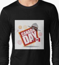 Canada Day maple leaf flag design Long Sleeve T-Shirt
