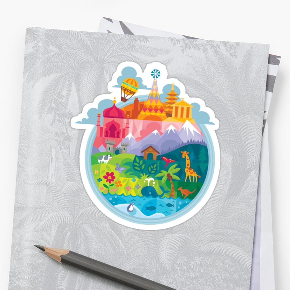 Small World Sticker
