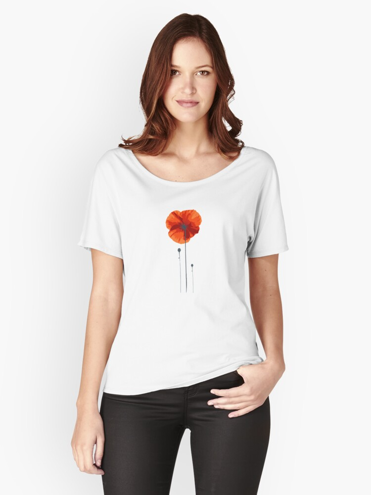 poppy coquelicot Women's Relaxed Fit T-Shirt Front