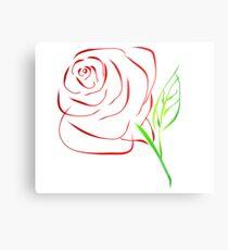 Illustrate Rose Metal Print