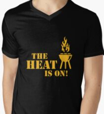 The Heat Is On! (Barbecue / BBQ) Mens V-Neck T-Shirt