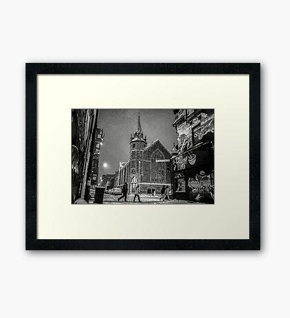 Il Etait Une Fois sur La Rue Ste-Catherine Framed Print