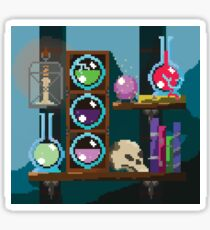 Wizards shelf Pixel Art Sticker