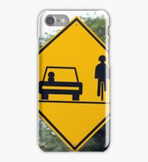 Cars and Cyclists Share the Road Sign iPhone Case/Skin