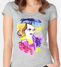 Watercolor Girl Women's Fitted Scoop T-Shirt