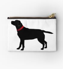 Black Labrador with Red Collar Studio Pouch